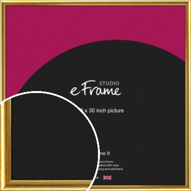 Radius Edge Old Gold Picture Frame, 30x30