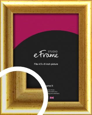 Radius Edge Old Gold Picture Frame, 4.5x6