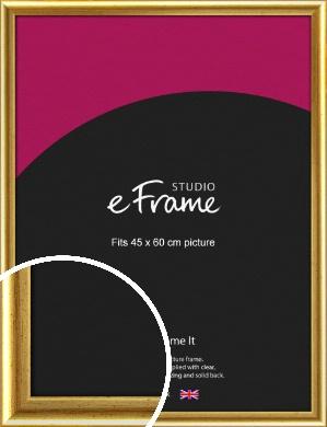 Radius Edge Old Gold Picture Frame, 45x60cm (VRMP-204-45x60cm)