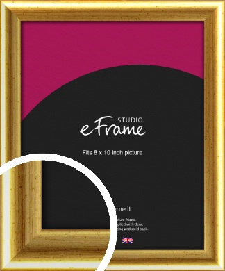 Radius Edge Old Gold Picture Frame, 8x10