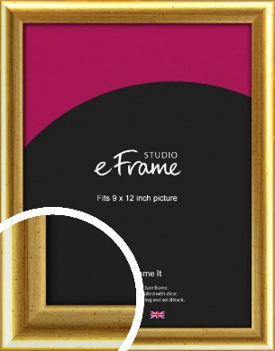 Radius Edge Old Gold Picture Frame, 9x12