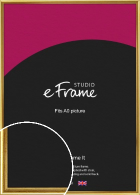 Radius Edge Old Gold Picture Frame, A0 (841x1189mm) (VRMP-204-A0)