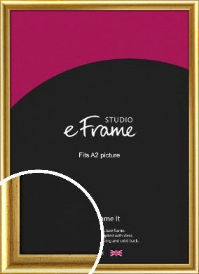Radius Edge Old Gold Picture Frame, A2 (420x594mm) (VRMP-204-A2)