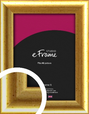 Radius Edge Old Gold Picture Frame, A6 (105x148mm) (VRMP-204-A6)