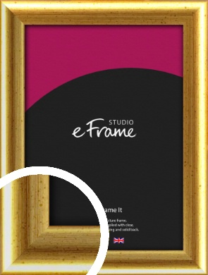 Radius Edge Old Gold Picture Frame (VRMP-204)