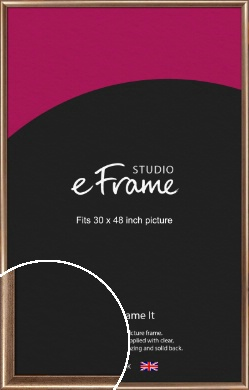 Curved Understated Bronze / Copper Picture Frame, 30x48