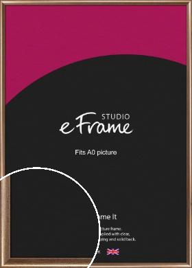 Curved Understated Bronze / Copper Picture Frame, A0 (841x1189mm) (VRMP-205-A0)