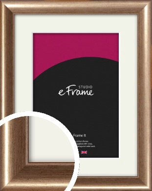 Curved Understated Bronze / Copper Picture Frame & Mount (VRMP-205-M)