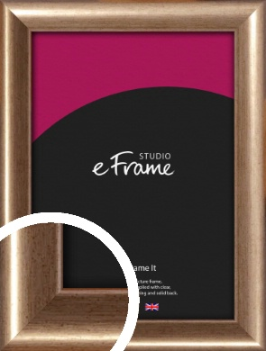Curved Understated Bronze / Copper Picture Frame (VRMP-205)