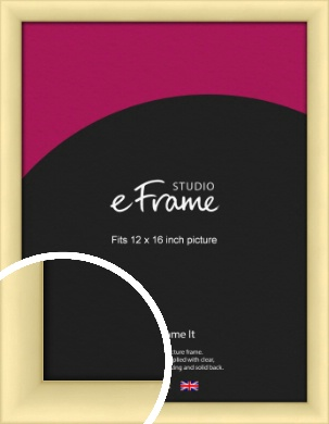 Frosted Gold Picture Frame, 12x16
