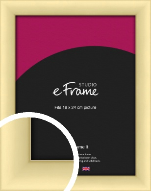 Frosted Gold Picture Frame, 18x24cm (VRMP-A018-18x24cm)