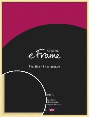 Frosted Gold Picture Frame, 36x48