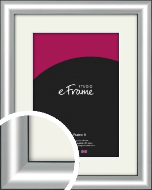Stainless Silver Picture Frame & Mount (VRMP-A019-M)
