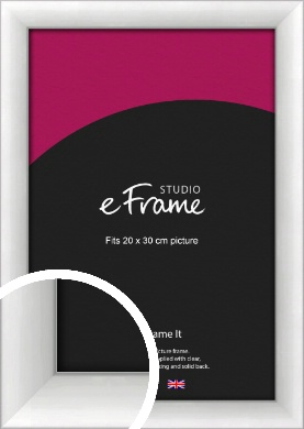 Modern Classic Silver Picture Frame, 20x30cm (8x12