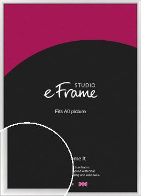 Modern Classic Silver Picture Frame, A0 (841x1189mm) (VRMP-A020-A0)