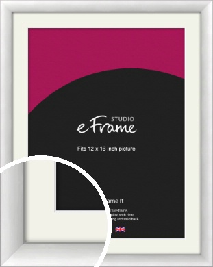 Modern Classic Silver Picture Frame & Mount, 12x16