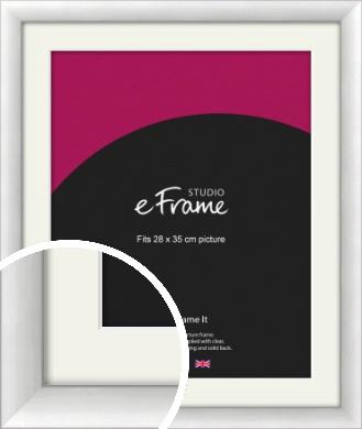 Modern Classic Silver Picture Frame & Mount, 28x35cm (VRMP-A020-M-28x35cm)