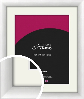 Modern Classic Silver Picture Frame & Mount, 8x10