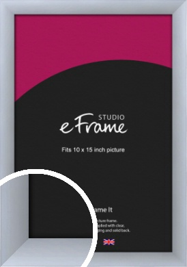 Satin Silver Picture Frame, 10x15