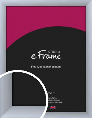 Satin Silver Picture Frame, 12x16