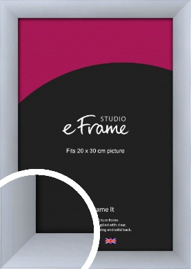 Satin Silver Picture Frame, 20x30cm (8x12