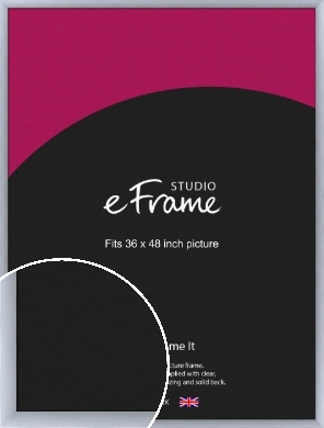 Satin Silver Picture Frame, 36x48