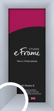 Satin Silver Picture Frame, 4x10