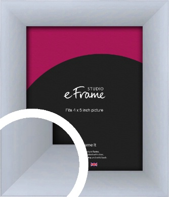 Satin Silver Picture Frame, 4x5