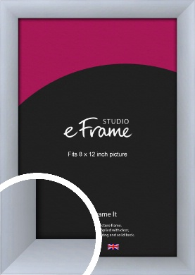 Satin Silver Picture Frame, 8x12