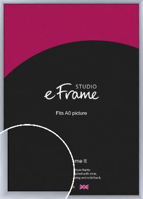 Satin Silver Picture Frame, A0 (841x1189mm) (VRMP-A021-A0)