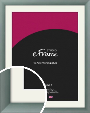 Satin Dark Silver Picture Frame & Mount, 12x16