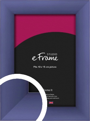 Modern Purple Picture Frame, 10x15cm (4x6