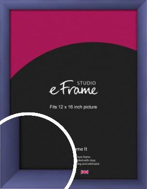 Modern Purple Picture Frame, 12x16