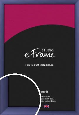 Modern Purple Picture Frame, 16x24