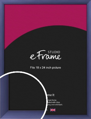 Modern Purple Picture Frame, 18x24