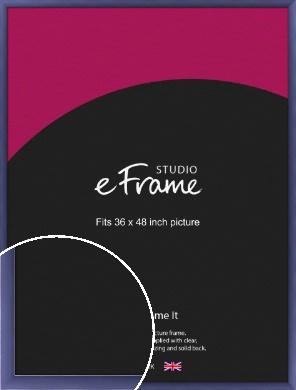 Modern Purple Picture Frame, 36x48