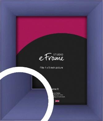 Modern Purple Picture Frame, 4x5