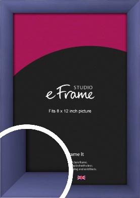 Modern Purple Picture Frame, 8x12