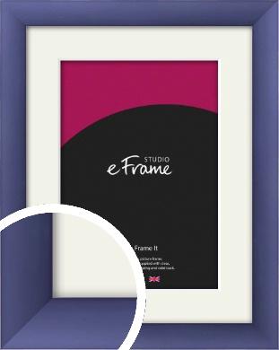 Modern Purple Picture Frame & Mount (VRMP-A025-M)
