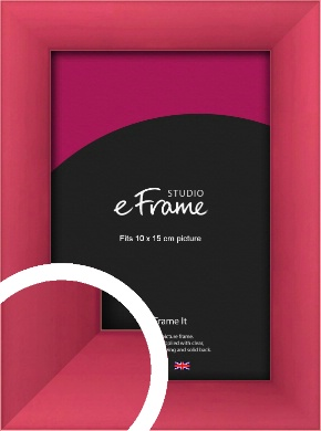 Scarlet Red Picture Frame, 10x15cm (4x6