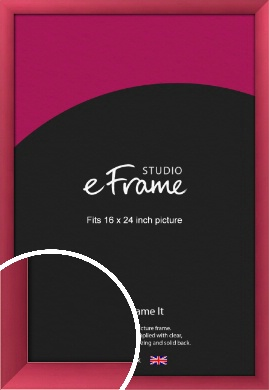 Scarlet Red Picture Frame, 16x24