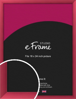 Scarlet Red Picture Frame, 18x24