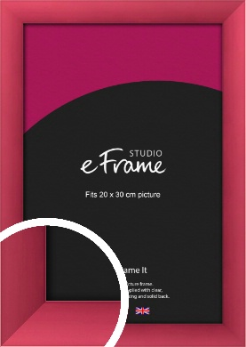 Scarlet Red Picture Frame, 20x30cm (8x12