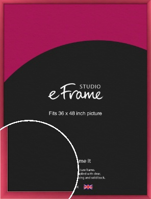 Scarlet Red Picture Frame, 36x48