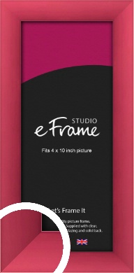 Scarlet Red Picture Frame, 4x10