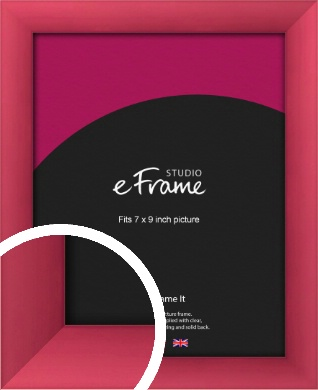 Scarlet Red Picture Frame, 7x9