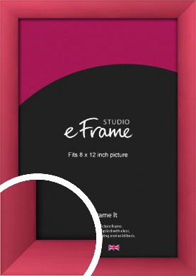 Scarlet Red Picture Frame, 8x12