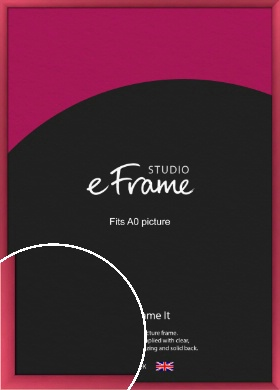 Scarlet Red Picture Frame, A0 (841x1189mm) (VRMP-A026-A0)