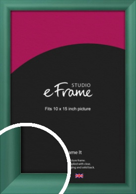 Modern Green Picture Frame, 10x15