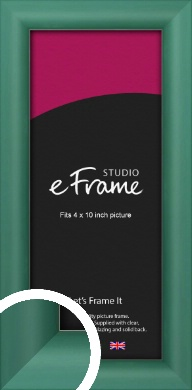 Modern Green Picture Frame, 4x10